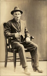Philip Murphey Posing in Chair