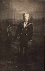 Portrait of a Young Boy in a Sailor Suit