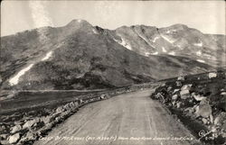 On the Crest of Mt. Evans from Road, Summit Lake Postcard