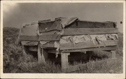 Farm Equipment in Field Postcard
