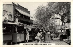 Overa St. - Oldest Street in Los Angeles, Calif Postcard