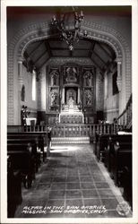 Altar in the San Gabriel Mission