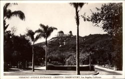 Vermont Avenue Entrance, Griffith Observatory