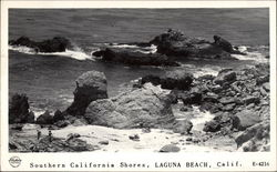 Southern California Shores, View of Beach & Rocks