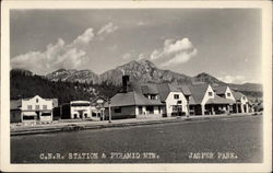 C.N.R. Station and Pyramid Mountain