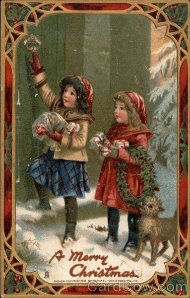 A Merry Christmas - Children Bringing Gifts