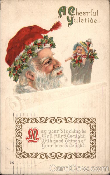 A Cheerful Yuletide Santa Claus