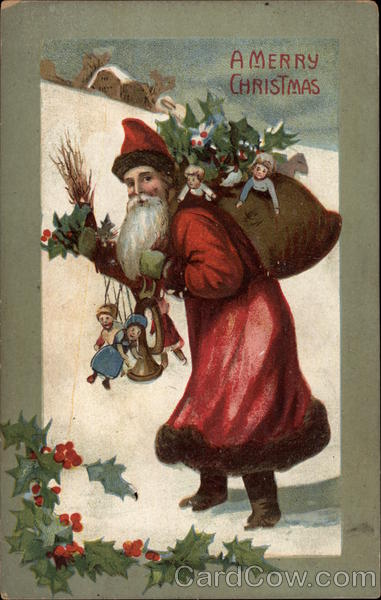 A Merry Christmas - Santa Claus with Toys