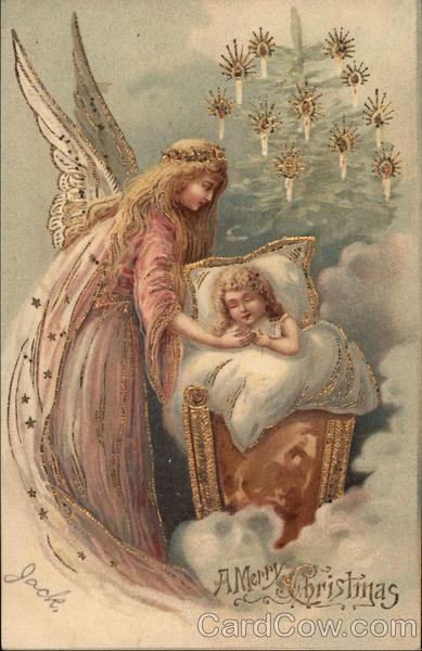 A Merry Christmas - Angel with Child Jack Angels