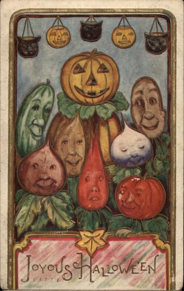 Joyous Halloween - Vegetables with Faces