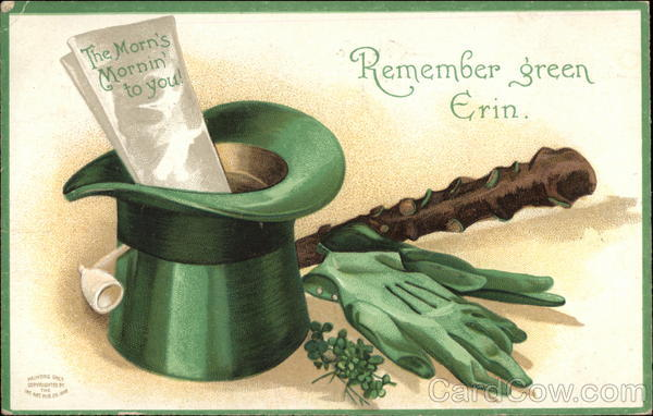 Remember Green Erin Ink Art Pos. Co St. Patrick's Day