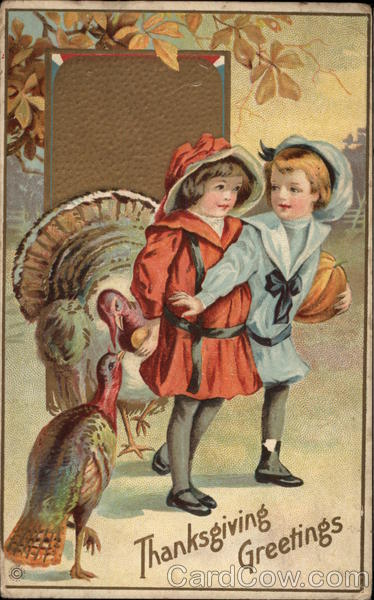 Children Play with Turkeys