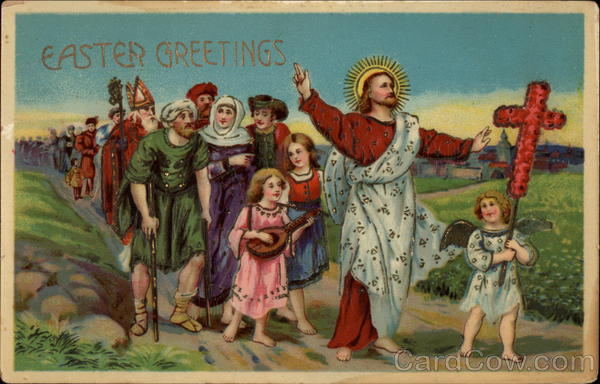 What Is My Paypal Email >> Easter Greetings - Jesus and Followers With Jesus Christ