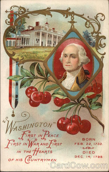 George Washington with Cherries and White House President's Day