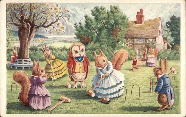 A Game of Croquet Racey Helps Dressed Animals