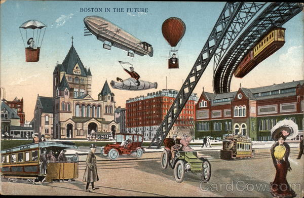 Boston in the Future Massachusetts Exaggeration