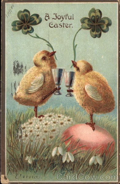 A Joyful Easter - Chicks with 4-leaf Clover Anna With Chicks