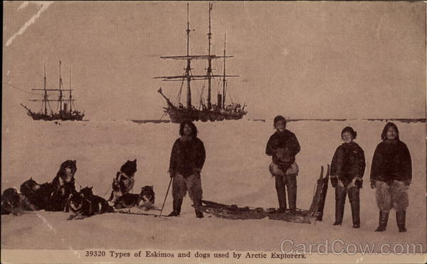 Types of Eskimos and Dogs used by Arctic Explorers