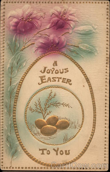 A Joyous Easter to You Eggs Airbrushed