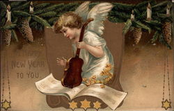 Happy New Year To You - Angel Playing Violin