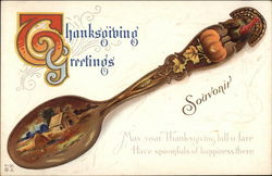 Spoon Decorated with Thanksgiving Themes