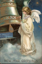 New Year Greetings - Angel and Bell