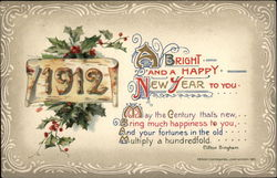 A Bright and a Happy New Year to You - 1912