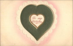 Embossed Green Lacy Heart