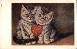 Two Kittens with a Valentine