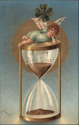 A Happy New Year - Angel with Hourglass