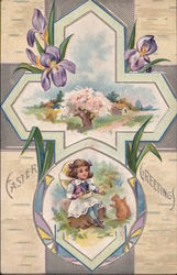 Easter Greetings - Cross and Irises