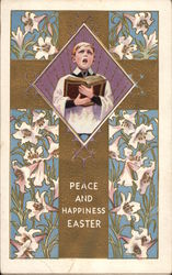 Peace and Happiness Easter - Cross and Choir Boy