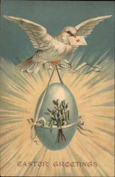 Easter Greetings - Dove Carrying Egg