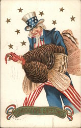 Uncle Sam Holding a Turkey