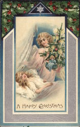 A Happy Christmas - Angel and Sleeping Girl