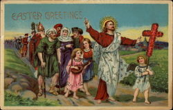 Easter Greetings - Jesus and Followers