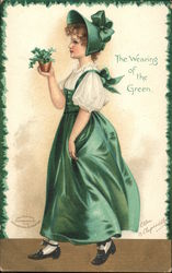 The Wearing of the Green - Woman in Green Dress