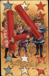 4th of July - Children with Fire Crackers