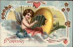 Easter Greetings - Angel with Harp