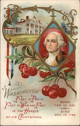 George Washington with Cherries and White House