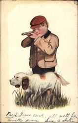 Young Hunter with Dog