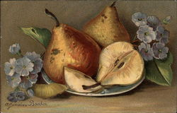 Still Life - Pears and Flowers