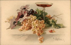 Still Life with Grapes and Wineglass