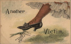 Woman's Foot Crushing a Cricket