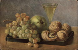 Grapes and Walnuts by M. Billing