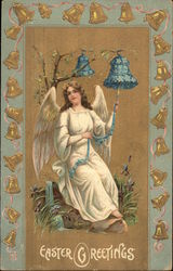 Easter Greetings - Angel with Bells