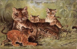 Tiger and Cubs - In the Jungle