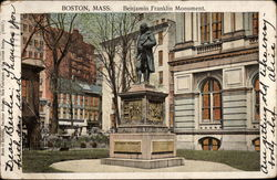 Benjamin Franklin Monument, Boston, Mass