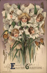 Bouquet of Lilies with Womens' Faces