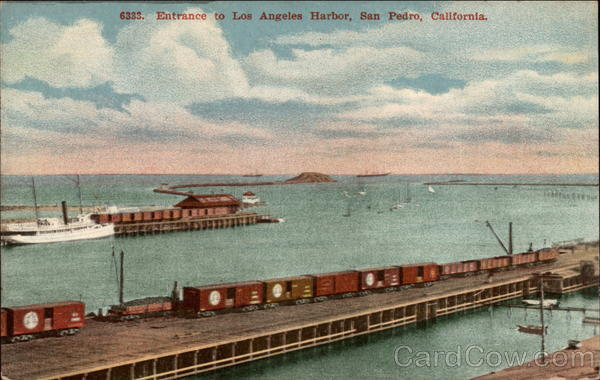 Entrance to Los Angeles Harbor San Pedro California